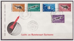 Surinam / Suriname 1964 FDC 30-5M Airplane Space Rocket Globe - Surinam ... - 1975