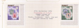 Cook Islands - Penrhyn SG 70-71 1974 Centenary Of  Universal Postal Union MNH - Cook