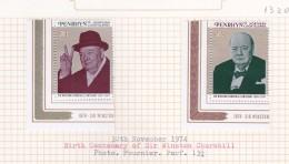Cook Islands - Penrhyn SG 76-77 1974 Birth Centenary Of Sir Winston Churchill MNH - Cook