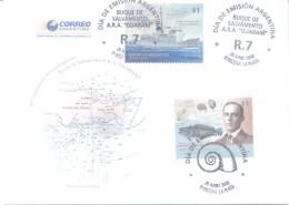 BUQUE DE SALVAMENTO A.R.A. GUARANI FDC ENVELOPE 50 ANIVERSARIO DE SU NAUFRAGIO  AÑO 2008 ARGENTINE - Schiffe