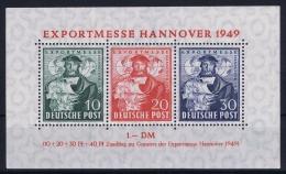 Germany: Bi ZoneMi Nr 103 - 105 Block 1 MNH/** Postfrisch