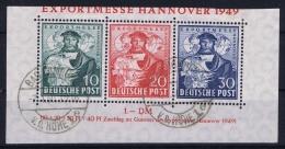 Germany: Bi ZoneMi Nr 103 - 105 Block 1 Used  Cut Art Top