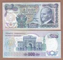 AC - TURKEY - 6th EMISSION 500 TL O UNCIRCULATED - Turkije