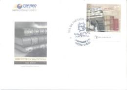 200 AÑOS DE LA BIBLIOTECA NACIONAL FDC ARGENTINA SOBRE AÑO 2010 ENVELOPE