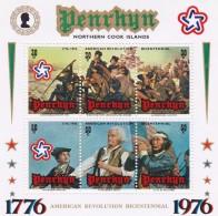 Cook Islands - Penrhyn SG 92MS 1976 Bicentenary Of American Revolution Miniature Sheet MNH - Cook Islands