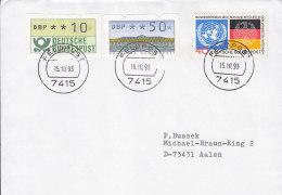 Feldpost 7415 Auf Briefumschlag Mit BRD 781, ATM 1 + 2 MiF, 15.10.1993 - Militaria