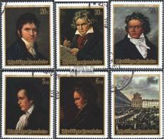 Rwanda 449A-454A (complète.Edition.) Oblitéré 1971 Ludwig Van Beethoven - Rwanda