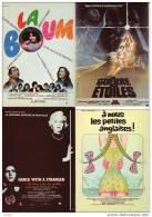 CINEMA - LOT DE 8 AFFICHES DE FILMS SUR CARTE : La Boum, Star Wars, Querelle, Orange Mécanique(Ref 2426) - Affiches Sur Carte