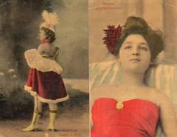 2  CPA (  Angelina CASINO De PARIS )  Ref..B.80 - Artistes