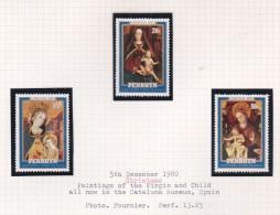 Cook Islands - Penrhyn SG 161-163 1980 Christmas MNH - Cook Islands