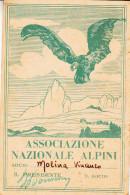 TESSERA-ASSOCIAZIONE NAZIONALE ALPINI-FINALE LIGURE -OTTIMA CONSERVAZIONE-2 SCAN- - Pubblicitari