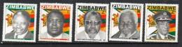 2009 Zimbabwe Heroes  Complete Set Of 5  MNH - Zimbabwe (1980-...)