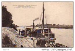 """( Dep  33  )     La """" Garonnelle """"BATEAU A VAPEUR Des Pélerins Ref   E. 224 - Barche"""