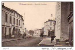 """Cpa état Lux (  Dép  33  )  à   PODENSAC   """" Route De Bordeaux """"ref    E.026 - Francia"""