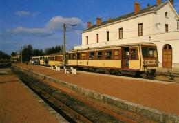 AL 169 - Autorail CFD Socofer En Gare - ROMORANTIN (41) - BA / SNCF - Gares - Avec Trains