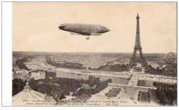 """Cpa ( Dep 75 )   à PARIS   """" Le Dirigeable Militaire République """"ref  E.0704 - Luchtschepen"""