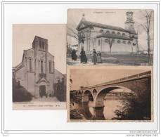 3 CPA - Tonneins - Eglise St-pierre - (47 Lot Et Garonne) - Dont 1 Décollé Partielement - (ref 693) - Tonneins