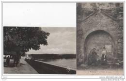 2 CPA - Tonneins - 1. La Fontaine De Lescure 2.esplanade St-pierre Et La Garonne - (ref 42) - Tonneins