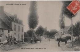 CPA 72 LONGNES Route De Laval - France