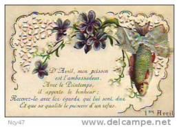 Cpa  (  Fêtes   )   Le  1er  AVRIL - 1° Aprile (pesce Di Aprile)