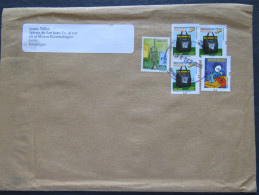 Brasil 2016 Cover To Nicaragua - Music Instruments - Clothes Maker - Postal Services - Brazil