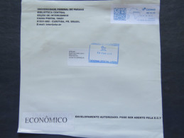 Brasil 2015 Front Of Cover To Nicaragua - Machine Franking - Map - Brazil