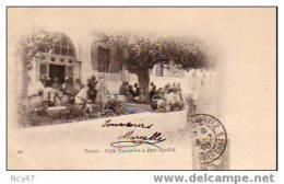 ( Tunisie)       TUNIS        Café Tunisien à   Bab - Djedid       1903 - Tunisie