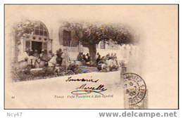 ( Tunisie)       TUNIS        Café Tunisien à   Bab - Djedid       1903 - Tunisia