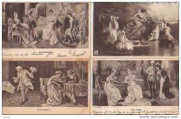 ( 4 Cpa   Diverses  )               Charmes De Femmes - Women