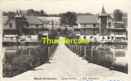 CPA RHODE ST GENESE SPAGRIENHOF RUE GEEVAERT - Rhode-St-Genèse - St-Genesius-Rode