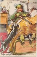 Humour Illustrateur  P.Ordner Préparatif :  Chasseur ,chien , Fusil , Réveil , Lit   Photochrom  1415  NEUVE - Other Illustrators