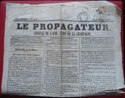 -- LE PROPAGATEUR JOURNAL DE L'AUBE -ECHO DE LA CHAMPAGNE - TIMBRES -- - Revues & Journaux