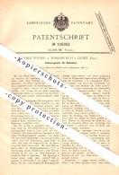 Original Patent - John Poyser In Wirksworth B. Derby , 1896 , Regulator For Looms , Weaving !!! - Derbyshire