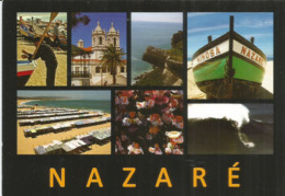 Belle Ville Cotière De NAZARÉ. Carte Postale Adressée En ANDORRE, Avec Timbre à Date Arrivée. Deux Photos Recto-verso - Unclassified