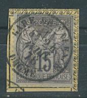 "VEND BEAU TIMBRE DE FRANCE N°77 , CACHET ""GARE DE VALENCE"" !!!! - 1876-1898 Sage (Type II)"