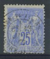 """VEND BEAU TIMBRE DE FRANCE N°78 , CACHET """"GARE DE TOURS"""" (a) !!!! - 1876-1898 Sage (Type II)"""