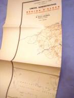 Carte Géographique Département D'ALGER-dressée Par ROBERT LACOSTE- époque Coloniale1957 - Geographical Maps