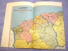 Carte Géographique ALGERIE-- époque Coloniale1957 - Carte Geographique