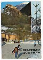 CHATEAU QUEYRAS--1970-Multivues (animée,enfants Sur Patinoire,chateau) Cpsm 15 X 10 N°86 éd Cellard-cachet QUEYRAS--05-- - Autres Communes