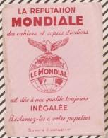 496 BUVARD CAHIERS COPIES LE MONDIAL Abimé Sur Le Cote - Stationeries (flat Articles)
