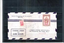 Cover From Nicaragua To USA - 1954 (to See) - Nicaragua