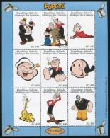 Comores 1999 Popeye 9v M/s, Mint NH, Art - Comics (except Disney) - Comores (1975-...)