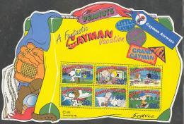 Cayman Islands 2002 A Cayman Vacation, Snoopy S/s, Mint NH, Transport - Planes & Aviation - Art - Comics (except Disney) - Iles Caïmans
