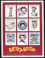 Comores 1999 Betty Boop 9v M/s, Mint NH, Art - Comics (except Disney) - Comores (1975-...)