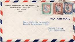 BOLIVIA 1946 - Air Cover From La Paz To Buenos Aires, Argentina. L.A.B. - Bolivia