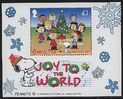 Gibraltar 2003 Christmas, Snoopy S/s, Mint NH, Art - Comics (except Disney) - Religion - Christmas - Gibraltar
