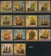 Equatorial Guinea 1975 Ships 14v Imperforated, (Mint NH), Transport - Ships & Boats - Boten
