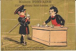 CROMOLITOGRAFIA GRANDE EPICERIE ST. ANTOINE FONTAINE PARIS - Tè & Caffè