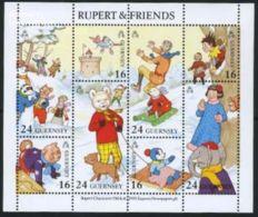 Guernsey 1993 Rupert & Friends S/s, First Day Cover, Art - Comics (except Disney) - Children's Books Illustration.. - Guernesey