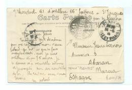 FRANCE, WWI, 24.5.1916, RENNES, 61ARTILLERIE DEPOT, TO MURCIA, SPAIN - Storia Postale
